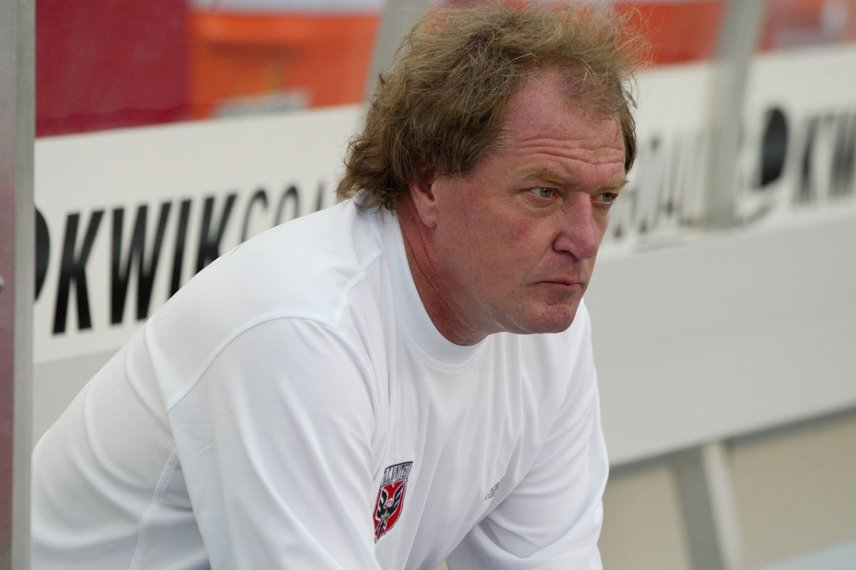 Ray Hudson watches the game