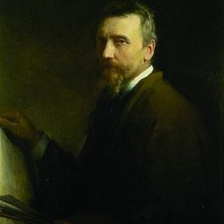 Carl Bloch's self-portrait, which was painted in 1886.