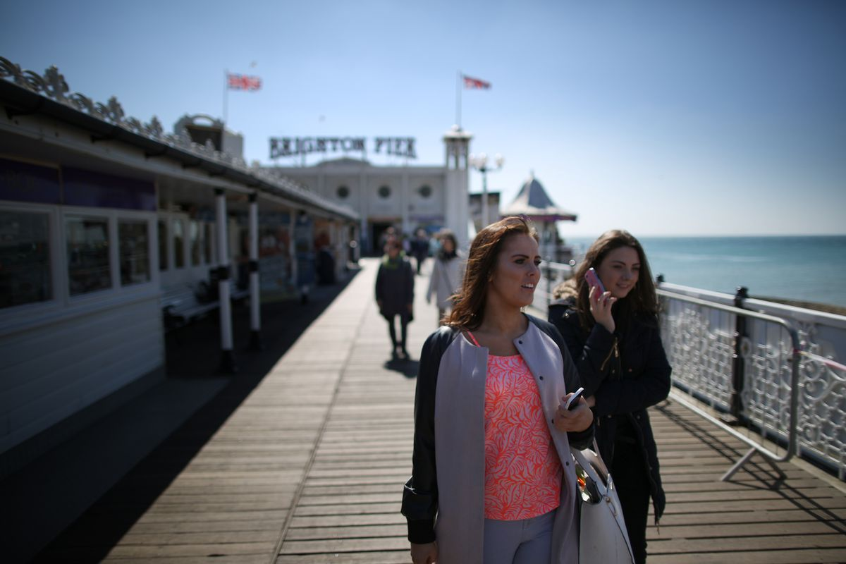 Sunny Weather On Brighton Seafront