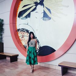 """""""In SF, I stayed at <a href=""""http://www.jdvhotels.com/hotels/california/san-francisco-hotels/hotel-kabuki"""">Hotel Kabuki</a> which is centrally located in the heart of Japantown. I'm so glad I brought along my Modcloth green midi skirt as its fan print per"""