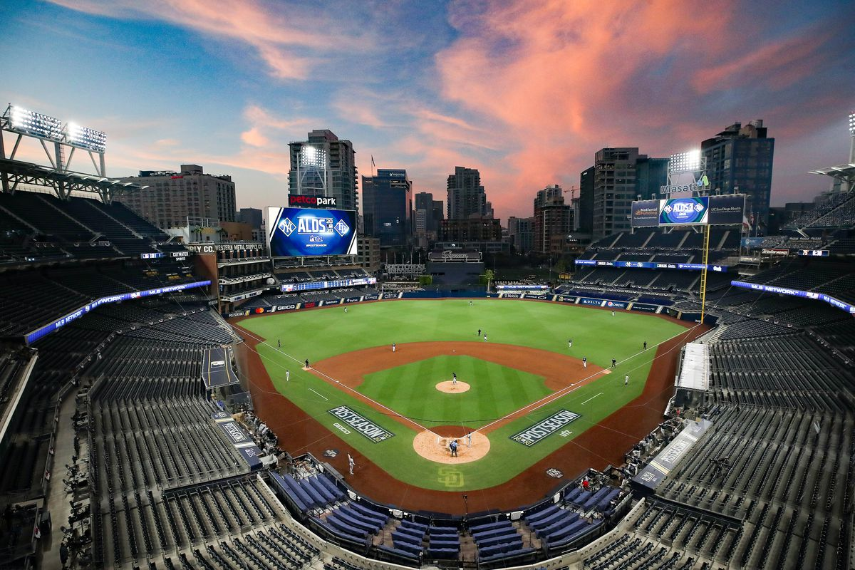 A general view during the fourth inning in Game Two of the American League Division Series between the Tampa Bay Rays and the New York Yankees at PETCO Park on October 06, 2020 in San Diego, California.