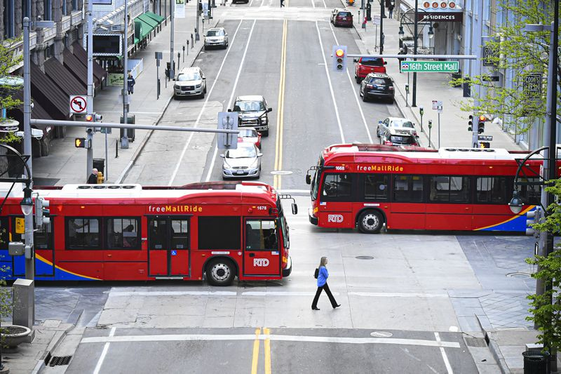 Denver's popular electric buses produce no local air pollution.