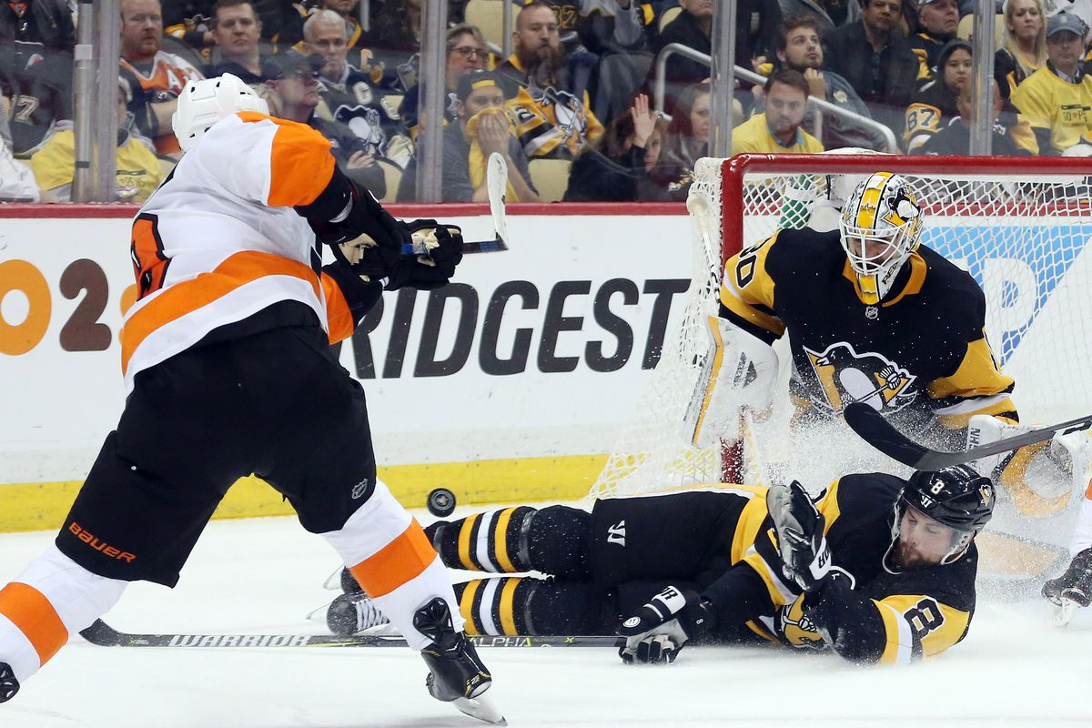 NHL: Stanley Cup Playoffs-Philadelphia Flyers at Pittsburgh Penguins
