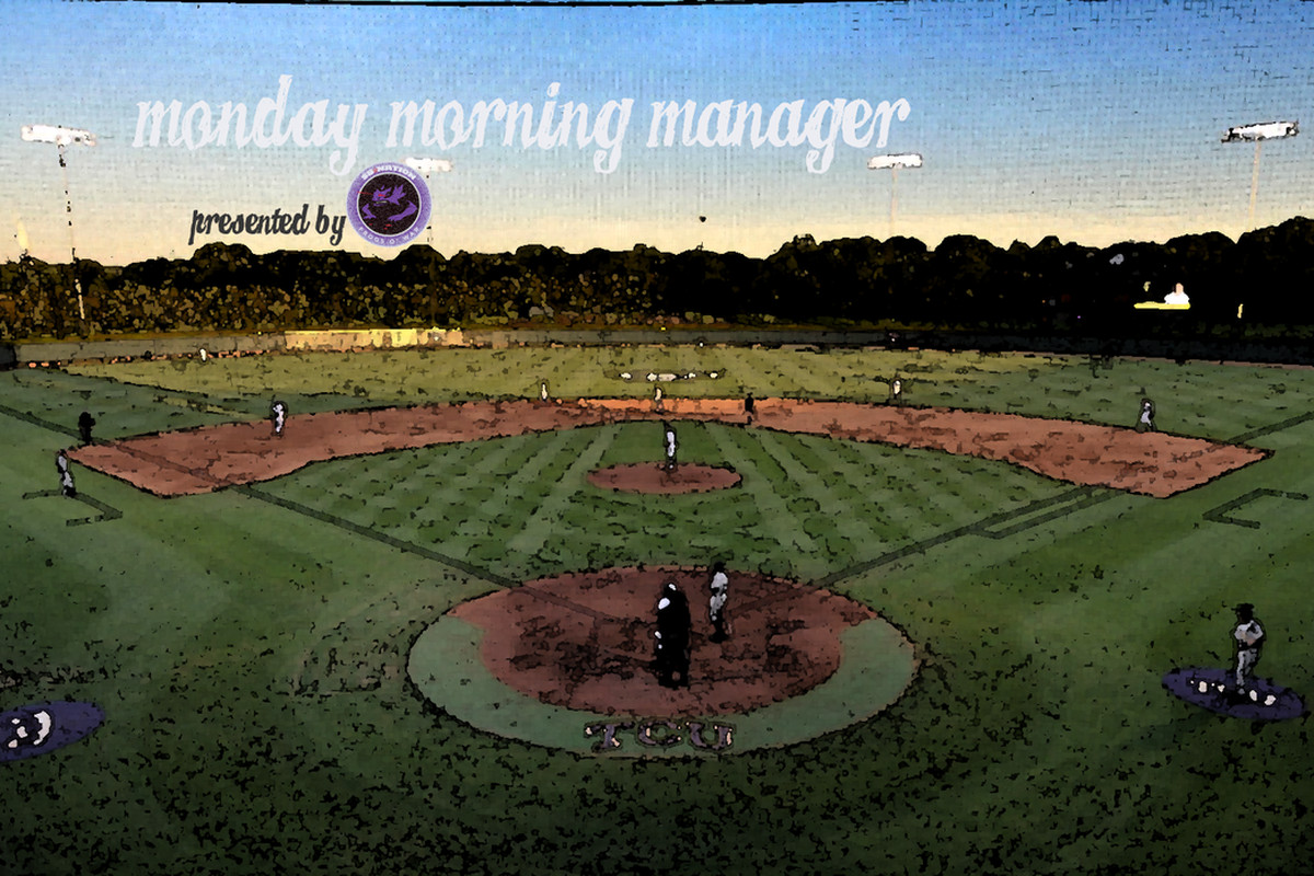 Welcome back to the Monday Morning Manager