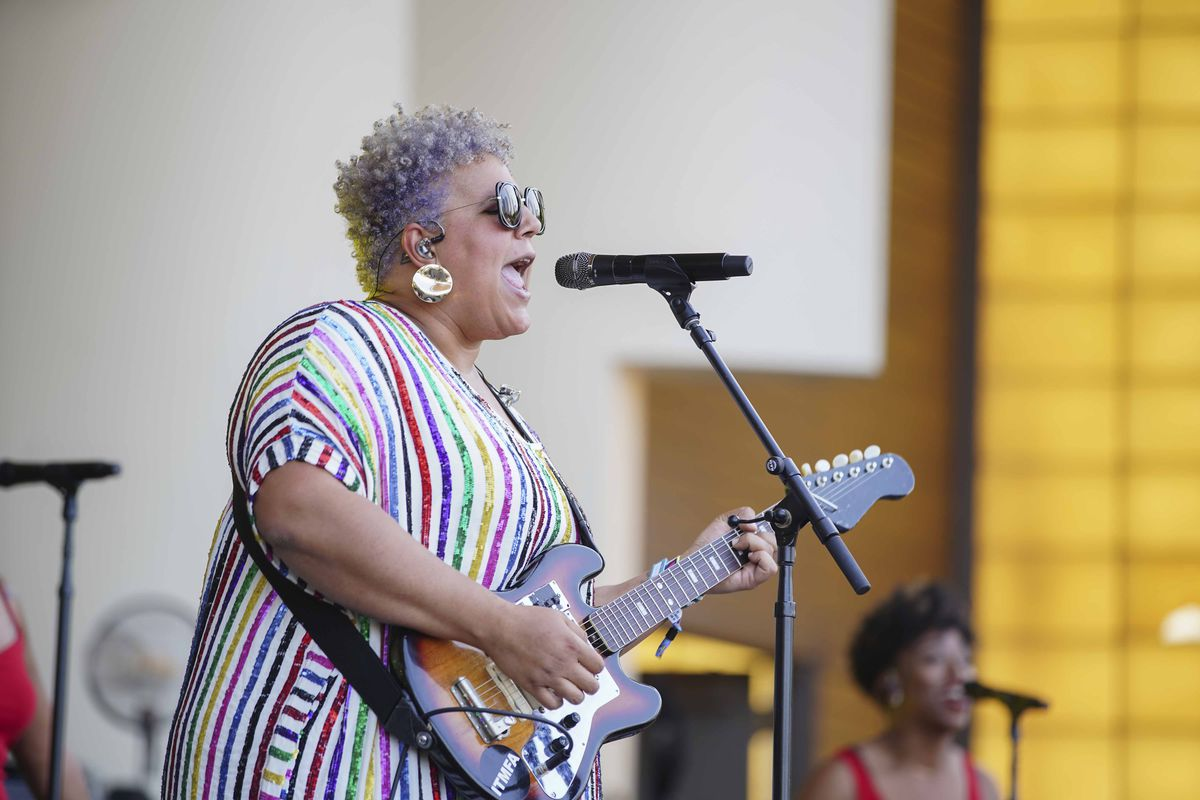 Brittany Howard performs on day four of Lollapalooza in Grant Park Sunday.