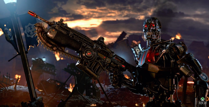 A screenshot of the T-800 in Gears 5