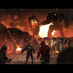 Still frames from the cinematic cutscenes planned for <em>BattleTech.</em>