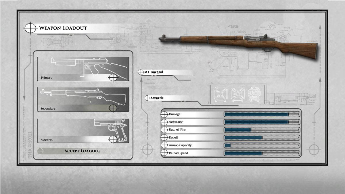 Medal of Honor: Airborne - customizing M1 Garand loadout