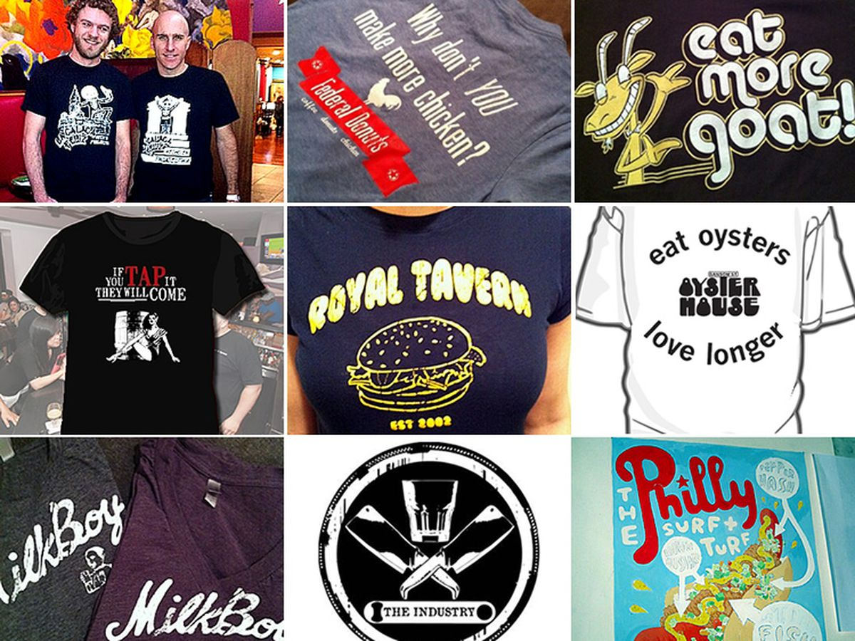 These are some of the very best bar and restaurant t-shirts in Philly.