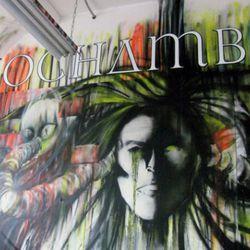 The wall art at Rochambeau