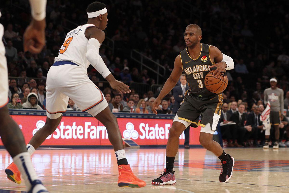 Oklahoma City Thunder v New York Knicks