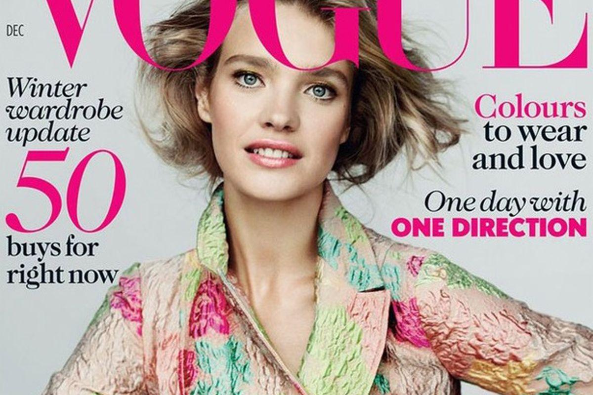 "Image via <a href=""http://www.vogue.co.uk/news/2012/10/30/december-vogue-issue---natalia-vodianova"">Vogue UK</a>"