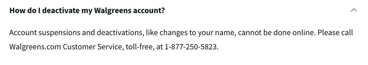 Walgreens hace que los clientes llamen al servicio de atención al cliente para cancelar las cuentas que los obligan a hacer.