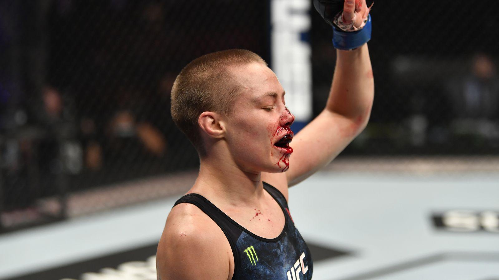 UFC 251 results: Jessica Andrade brutalizes Rose Namajunas down ...