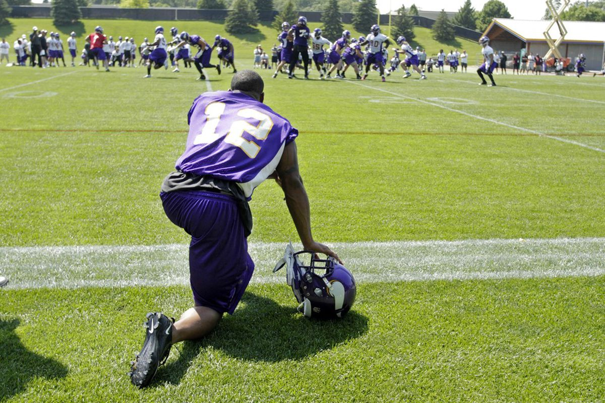 Percy Harvin practices the formation he'll be in for most of the pre-season game against the 49ers.  And I'm way cool with it.