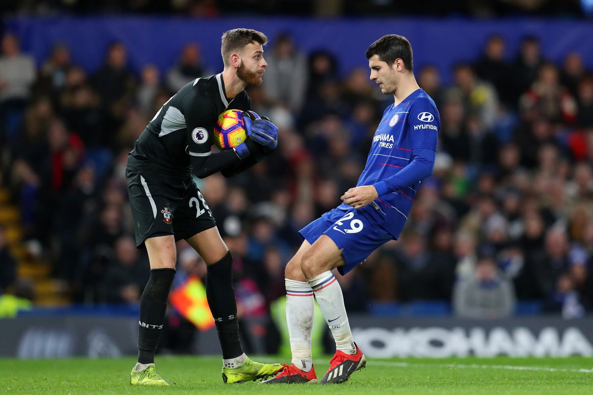 Angus Gunn made his first Southampton Premier League performance against Chelsea on Wednesday in a 1-1 draw