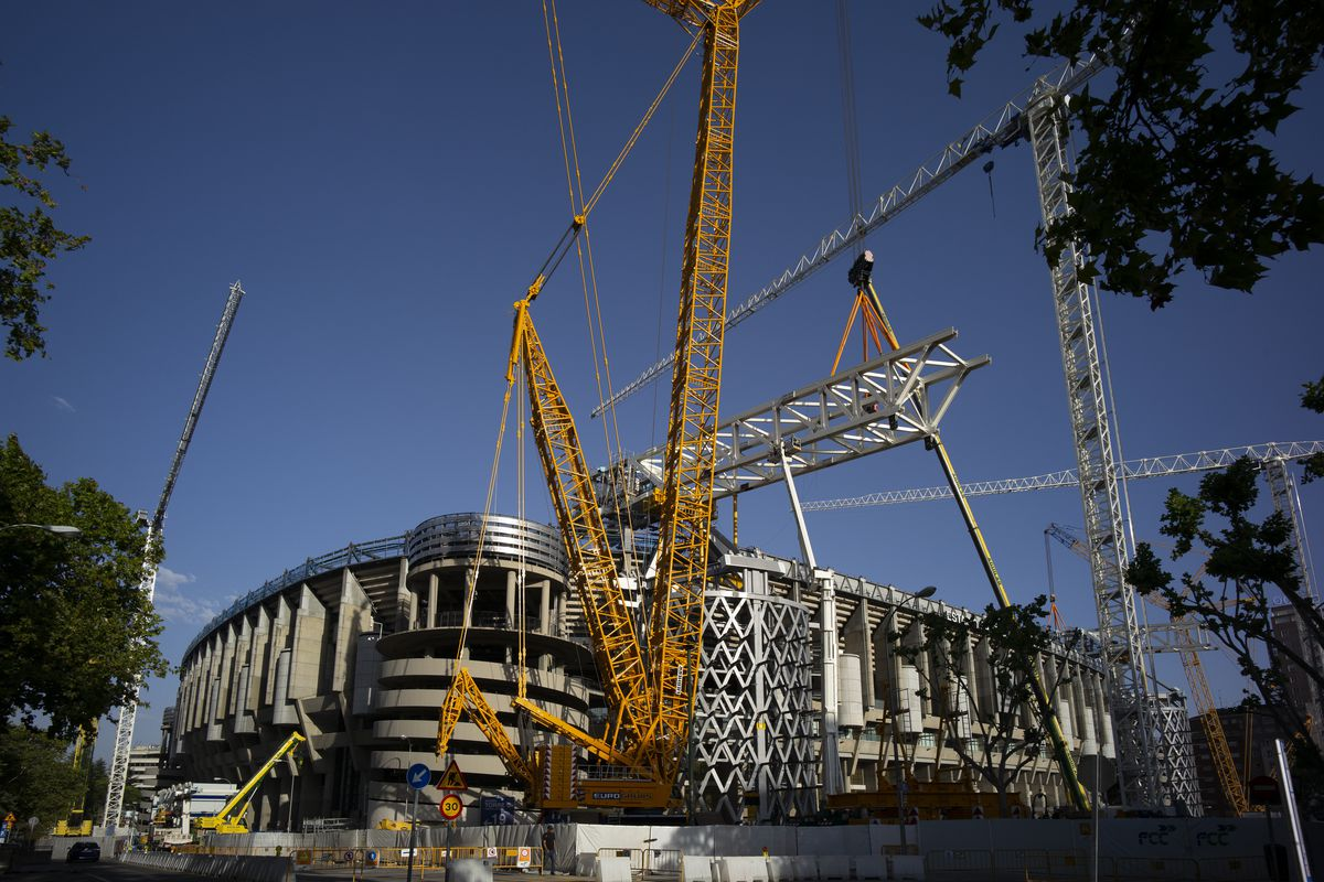 Renovation At The Stadium Santiago Bernabeu In Madrid