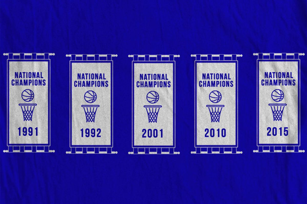 Championship T-Shirts - Five Banners - Duke Basketball Report