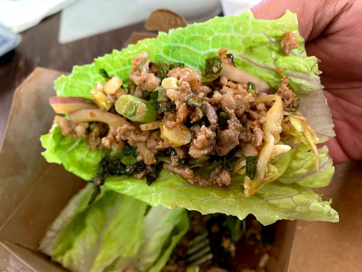The duck larb at Larb Thai Food and Tapas