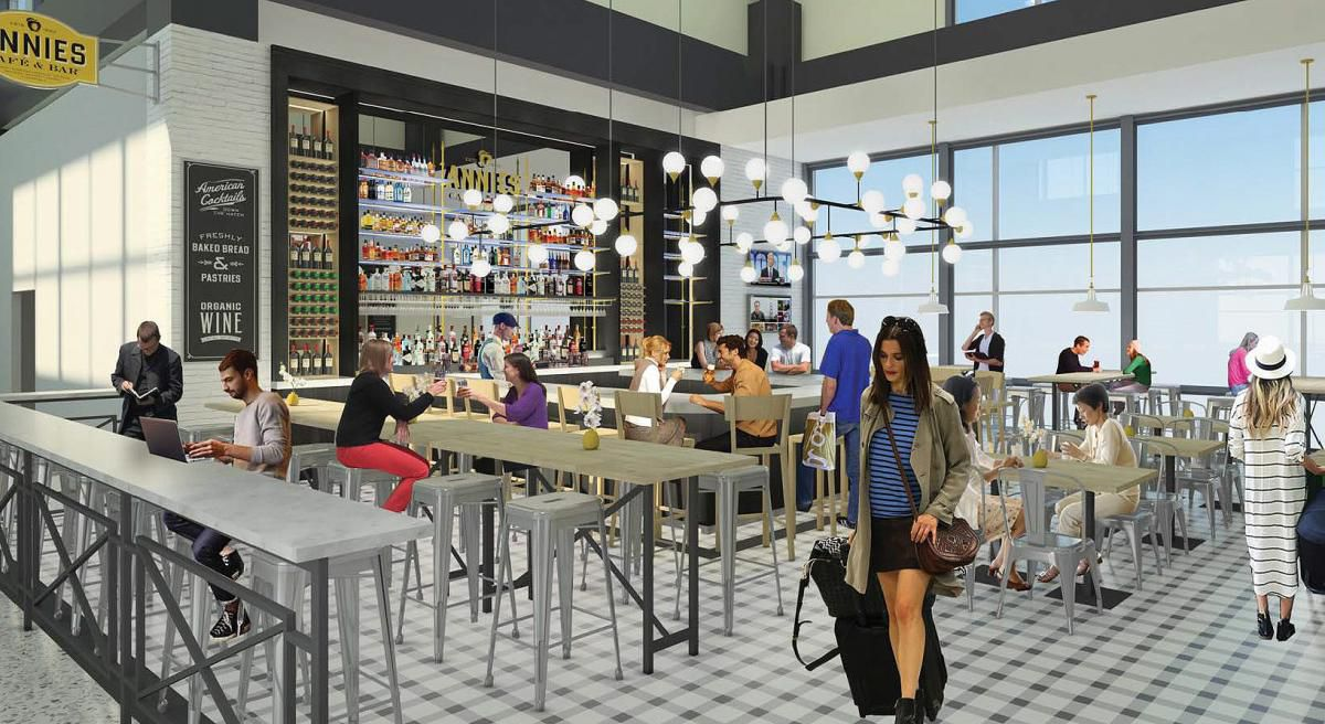 Rendering of Annies Cafe's airport renovations