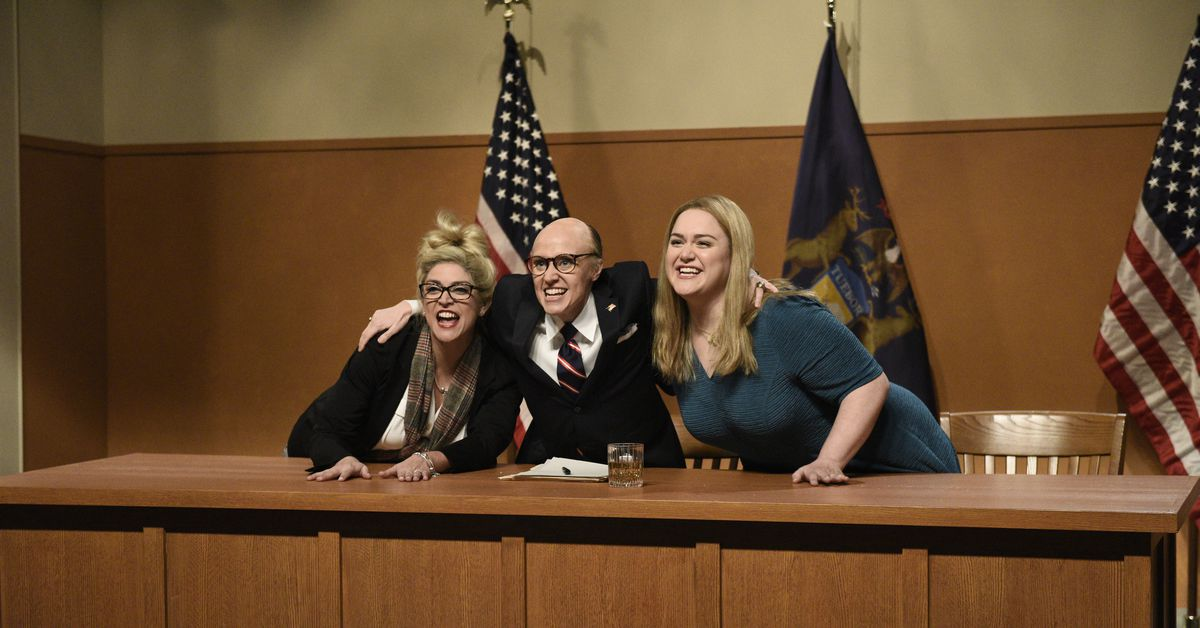 SNL cold open: Kate McKinnon plays Rudy Giuliani in spoof of the Michigan hearing – Vox.com