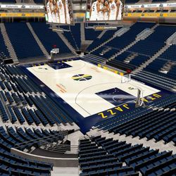 Artist rendering of the renovations to Vivint Smart Home Arena.
