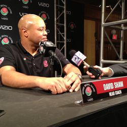 Stanford head coach David Shaw