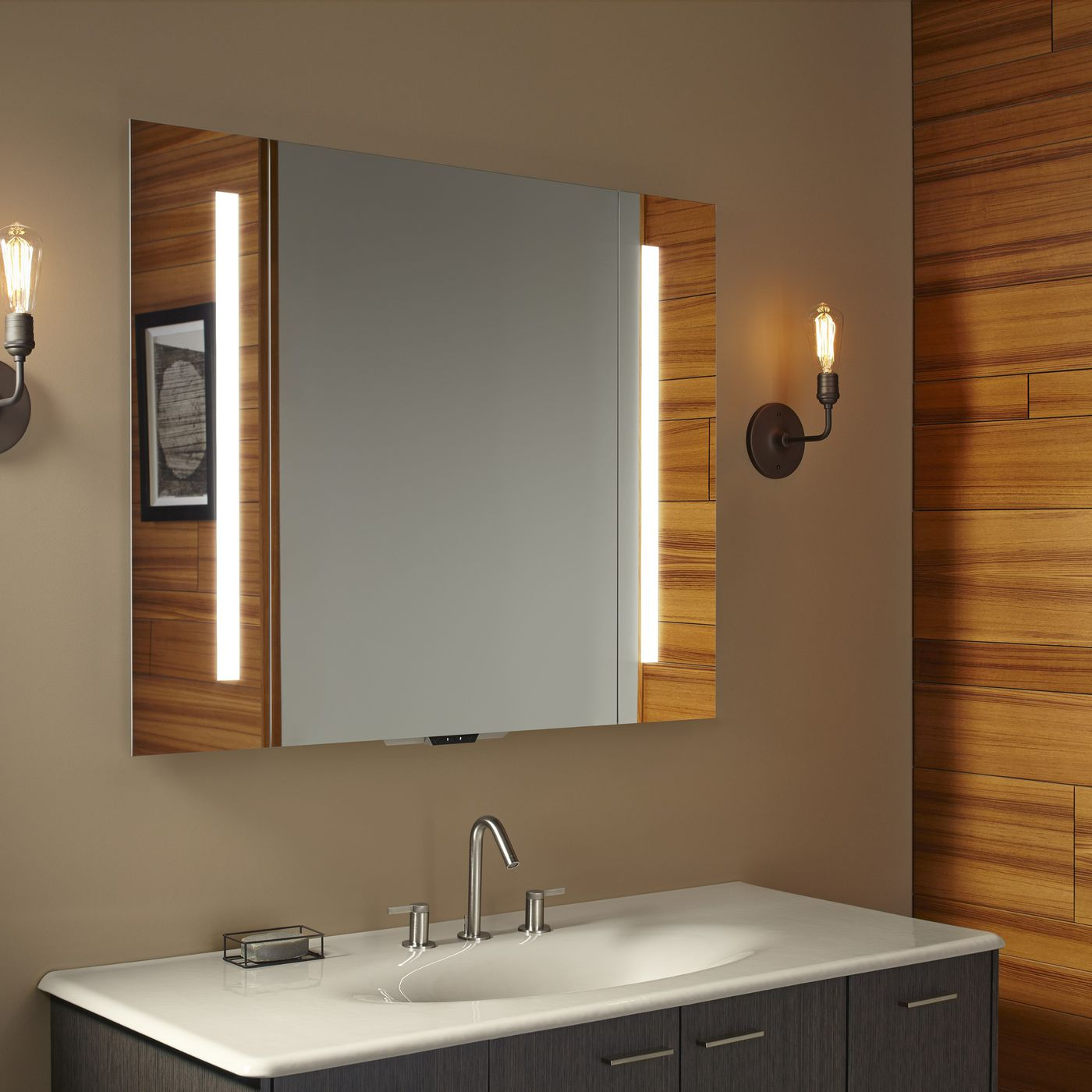 Kohler\'s smart mirror can control a new line of voice-activated ...