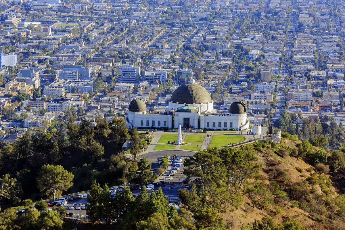 View from above Griffith Observatory