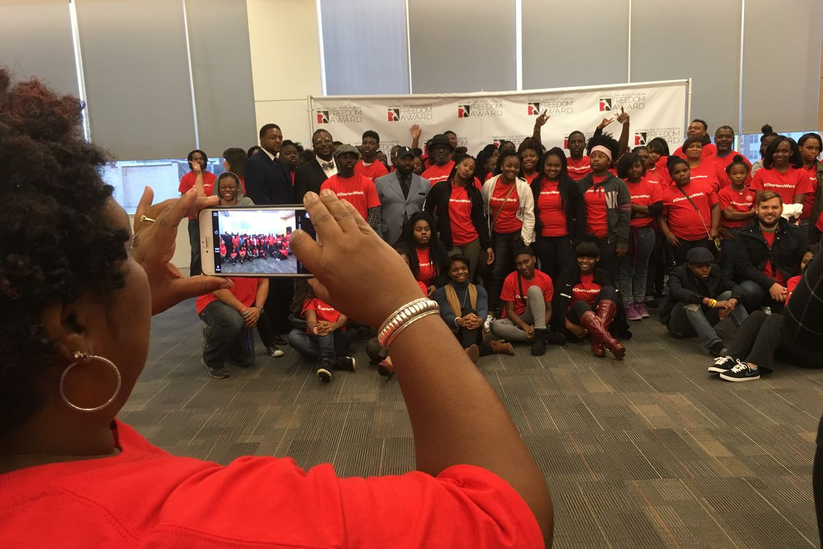 Campaign for School Equity rallied students, parents and education advocates at the National Civil Rights Museum in 2016 to support #charterswork, a campaign against the NAACP resolution calling for a moratorium on charter school growth.