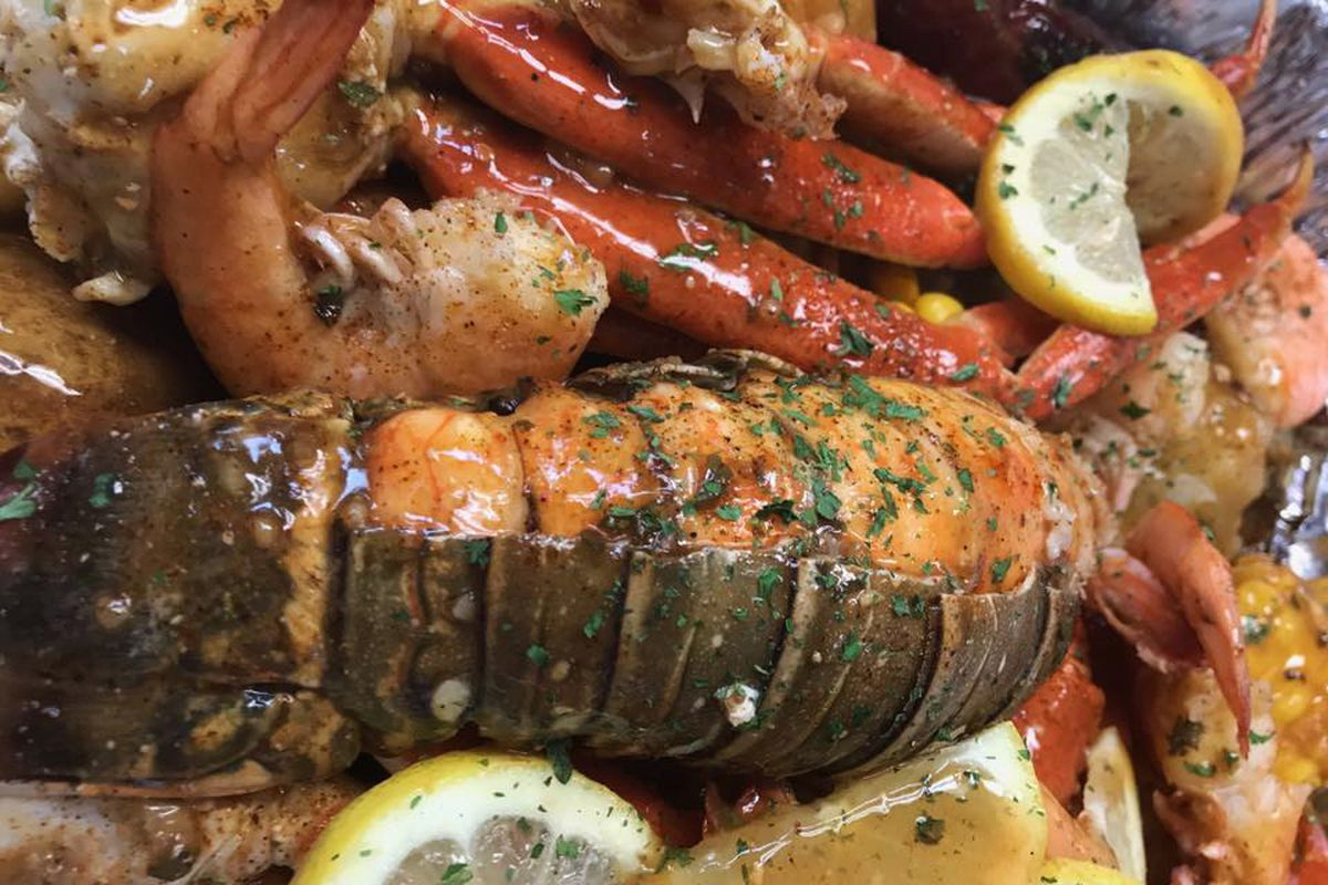 The seafood boil at Just Crack'N headed to the Boulevard Mall.
