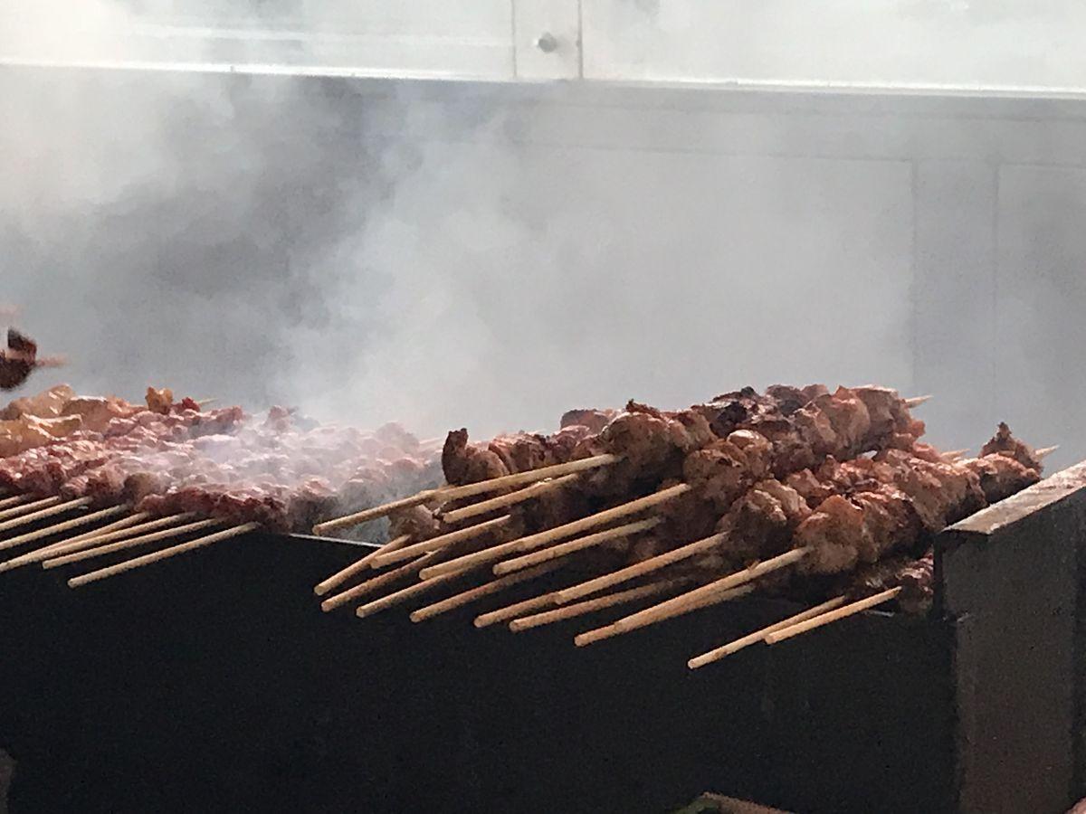 Xinjiang BBQ Cart's cumin lamb skewers