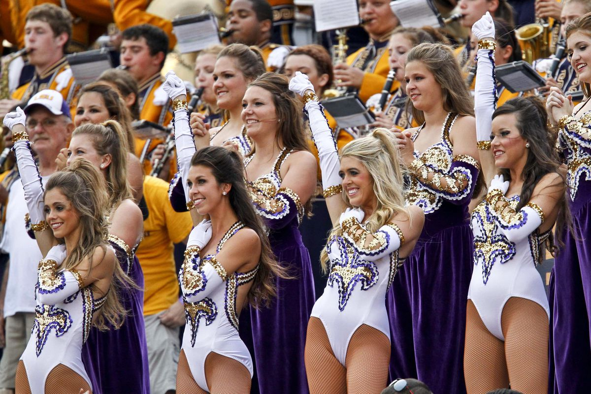 I'm justifying this picture because I moved LSU up to number two on my ballot after they throttled Washington. Also, I need something to cheer me up after Saturday night's debacle in CoMo. Credit: Derick E. Hingle-US PRESSWIRE
