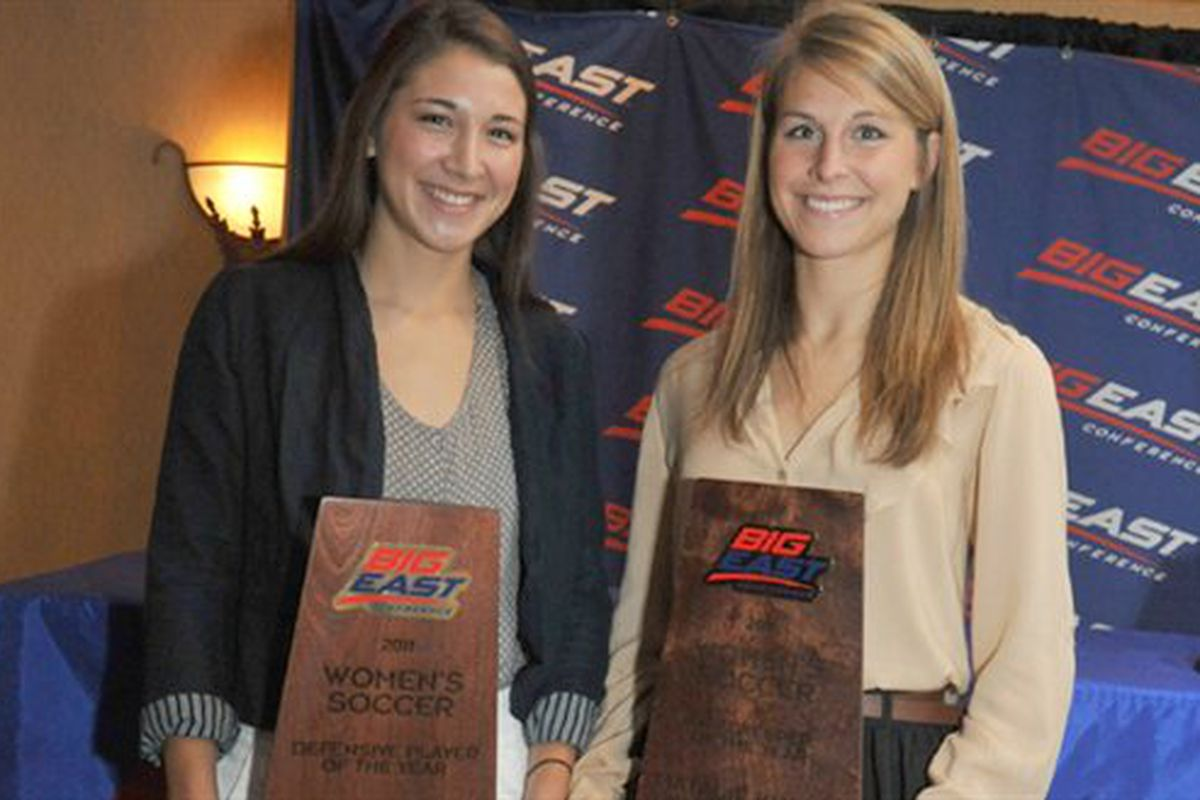 (L to R) Kerry McBride and Natalie Kulla both brought home individual awards for Marquette last year.