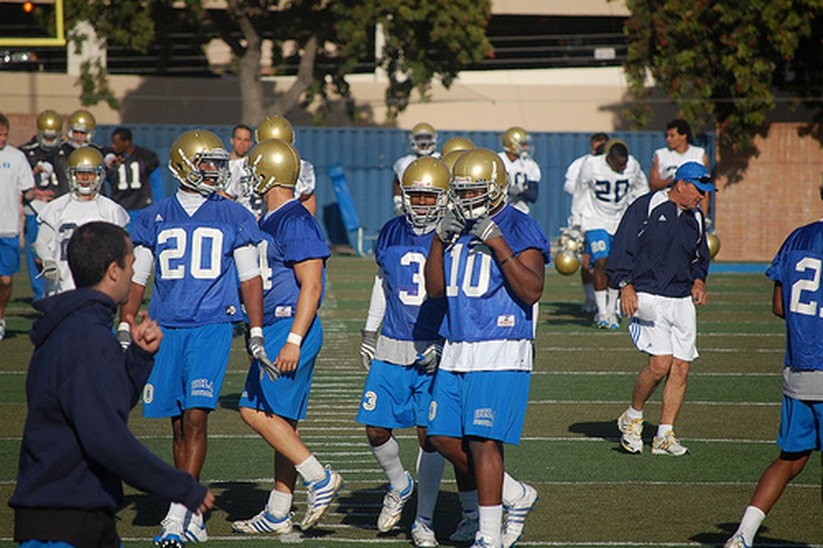 """<em>Number 10 is the leader of Bruin LB corps which might lack aggregate experience but has decent depth. Photo Credit: <a href=""""http://www.flickr.com/photos/quinn3411/3449396480/"""" target=""""new"""">dabruins07 (flickr)</a></em>"""
