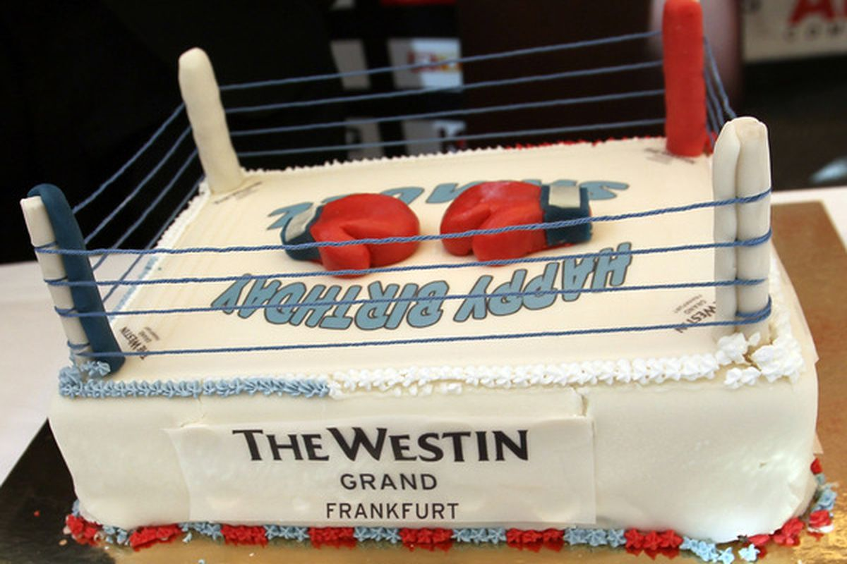 """This is the closest we could get to a """"Western"""" birthday cake."""