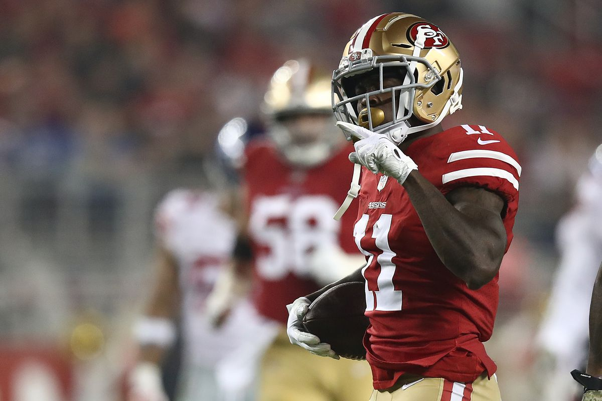 cheaper a34b9 868cf Odds for Marquise Goodwin and Richie James for Forty Yards ...