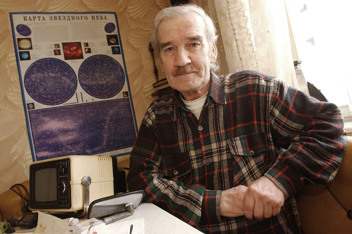 Stanislav Petrov, the man who saved the world, pictured at home in 2004