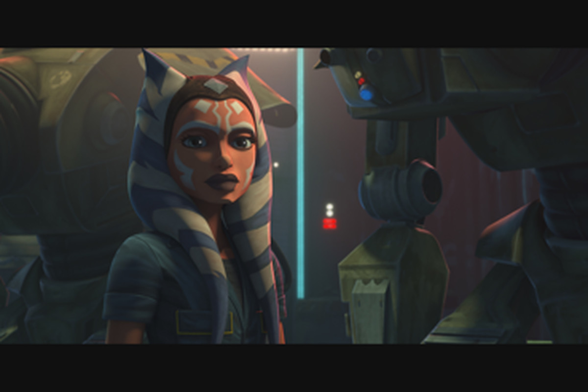 """After leaving the Jedi Order, Ahsoka Tano finds herself in the underworld of Coruscant where she befriends aspiring pilot Trace Martez. Enlisted by Trace's sister Rafa to help build dangerous droids, Ahsoka opts to keep her Jedi past a secret in """"Gone With a Trace,"""" an episode of """"StarWars: TheCloneWars"""" on Disney Plus."""