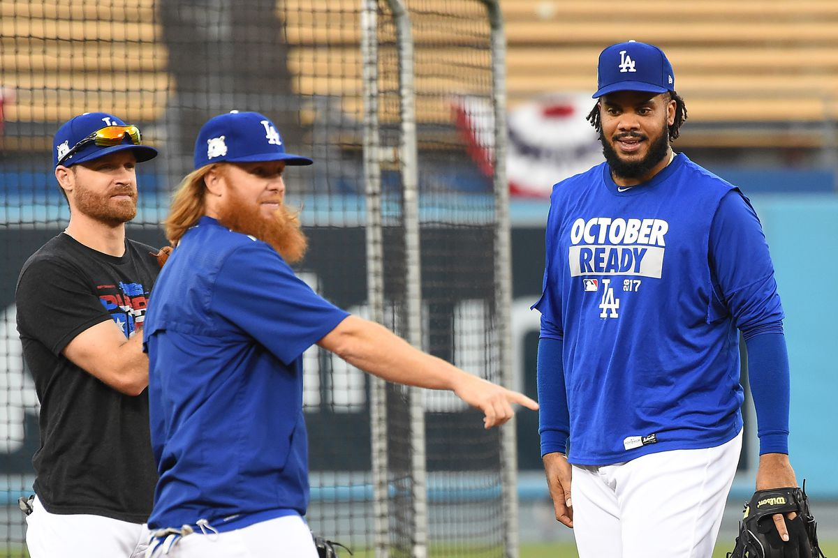 MLB: NLCS-Los Angeles Dodgers workouts