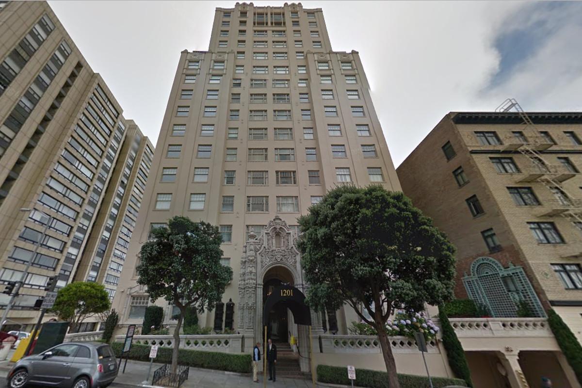 Art Deco exterior of Nob Hill high-rise