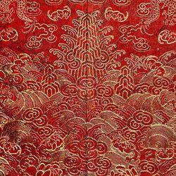 Detail of 19th century festival robe