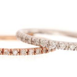 """<b>Ariel Gordon</b> mini pave diamond ring, $1200 at <a href=""""http://www.arielgordonjewelry.com/mipadiri.html""""target=""""_blank"""">Ariel Gordon</a>."""
