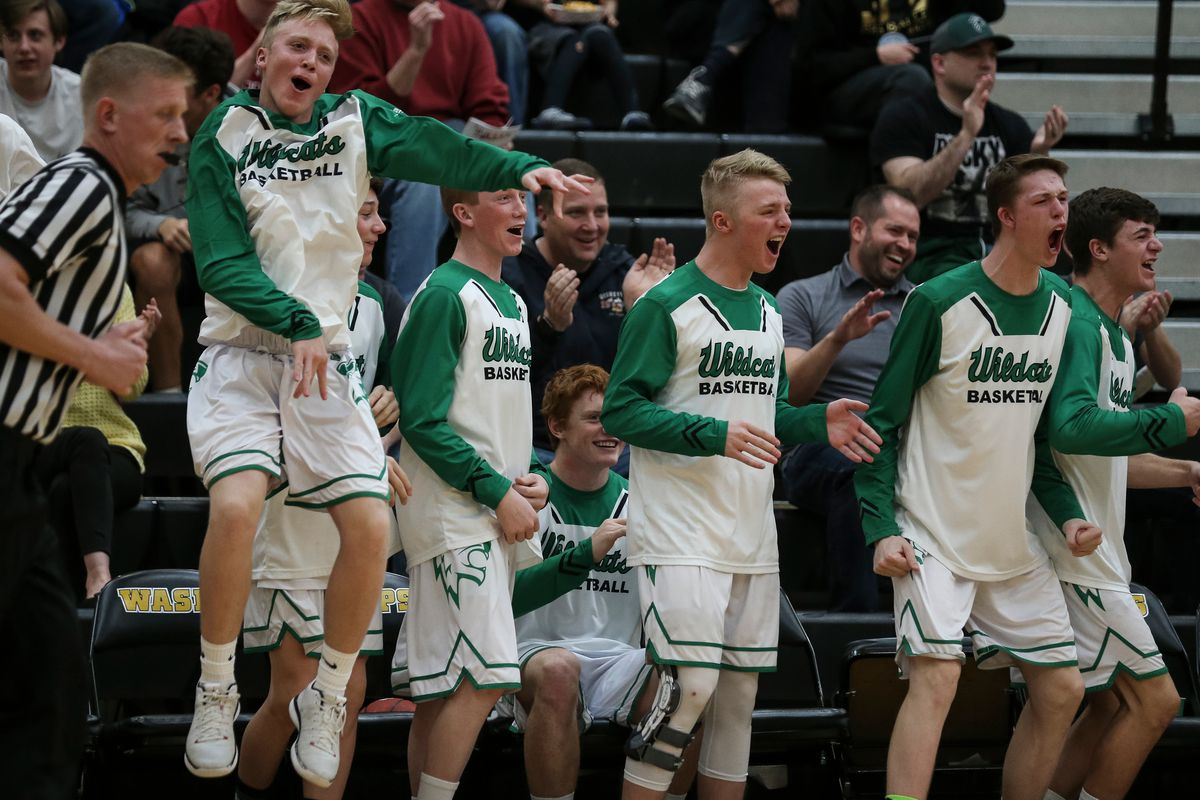 FILE: South Summit players celebrate during their a 3A boys basketball first round game at Wasatch High School in Heber City on Saturday, Feb. 17, 2018.