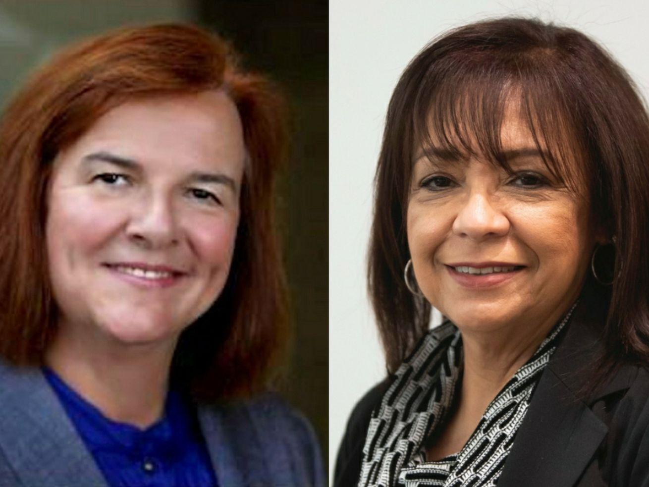 Republican Dr. Barbara Bellar, left, and Democratic state Sen. Iris Martinez, right.