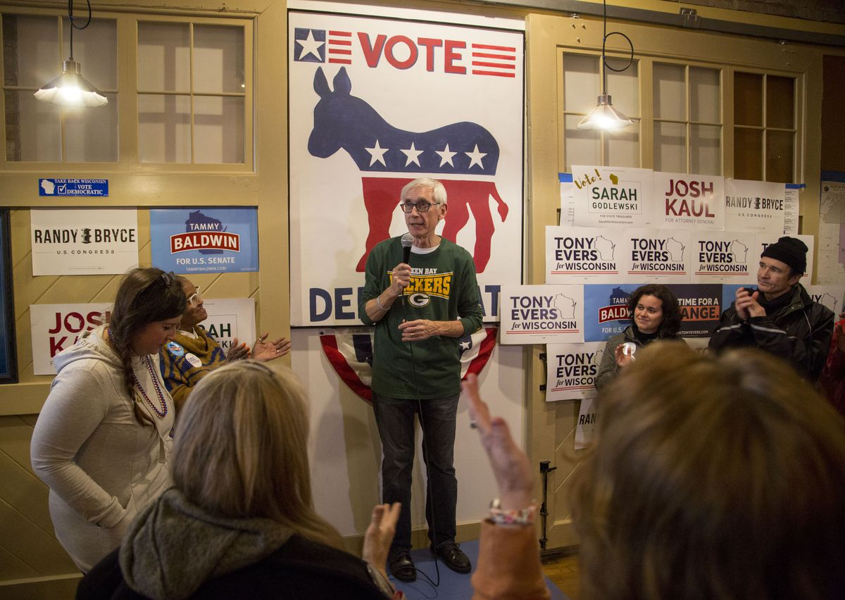 Democratic Gubernatorial Candidate Tony Evers Campaigns With Wisconsin Democrats