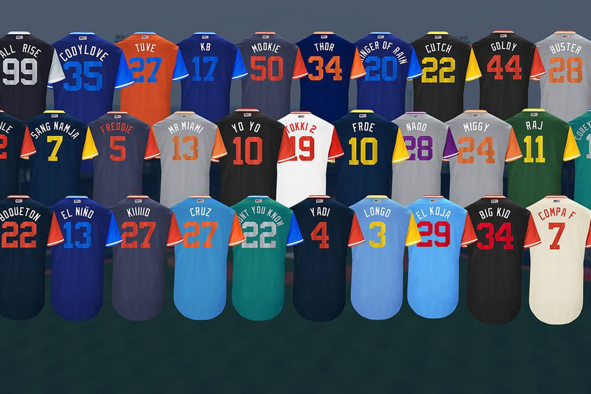 390f65cf44f The greatest and most disappointing MLB Players Weekend nicknames ...