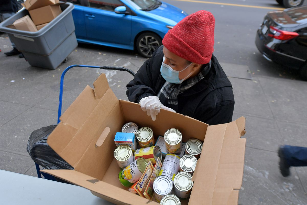 Food Bank For New York City Distributes Thanksgiving Meals To Go