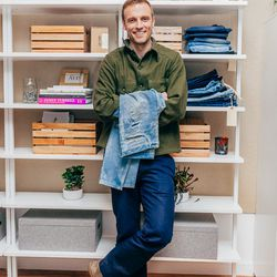 <b>Jeremy Bennett, Senior Production Manager</b> is wearing a Bonobos shirt, vintage jacket, RRL chinos, and John Varvatos boots. <br> <b>Your closet is on fire! What three items do you save from the flames?</b> <br> Jeans. All of my jeans. <br><br>