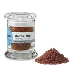 "<b>The Meadow</b> Molokai Red Sea Salt, <a href=""http://www.atthemeadow.com/shop/Gourmet-Sea-Salt/Molokai-Red-Hawaiian-Alaea-Sea-Salt-Coarse?cPath=1_126"">$8.50</a> for a small jar"
